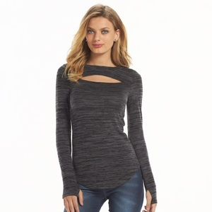 Juicy Couture Space-Dye Cut-Out Top
